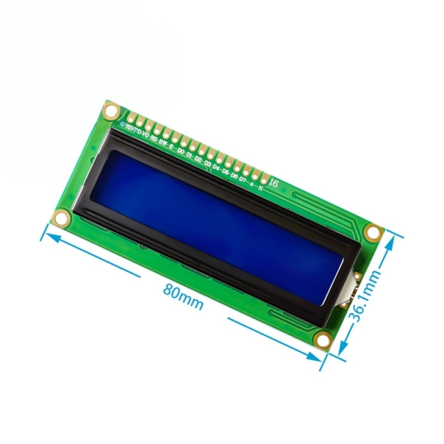 1602A LCD Blue Screen 5V with Backlight