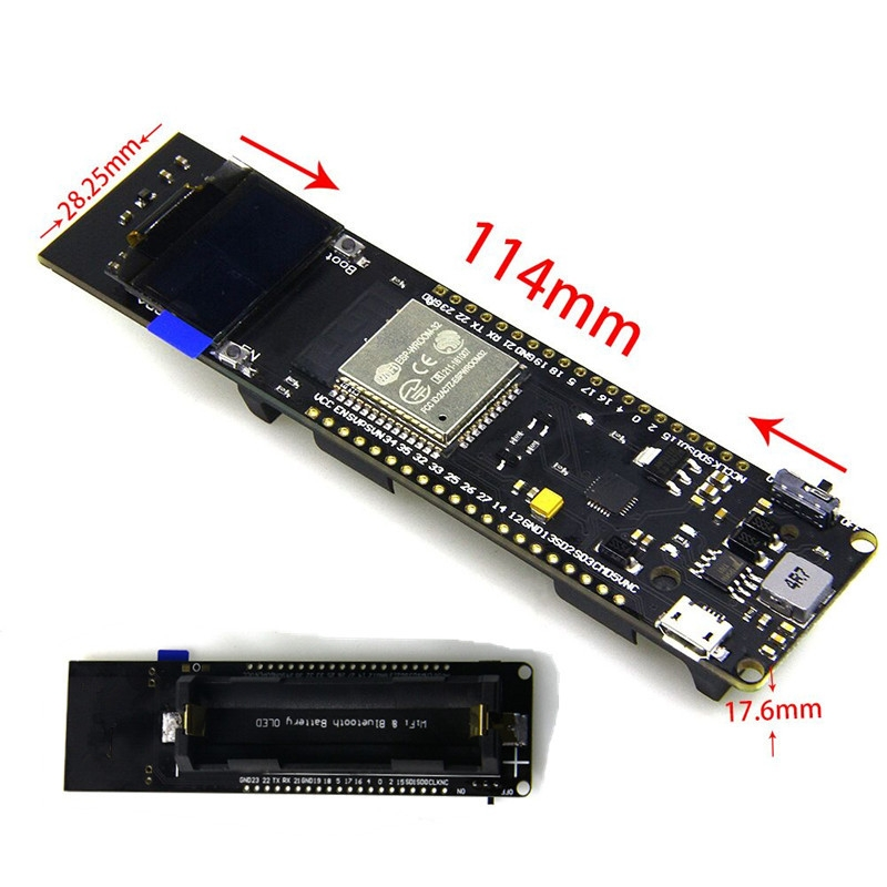 OLED WiFi Bluetooth ESP32 development Board with18650 Battery Case