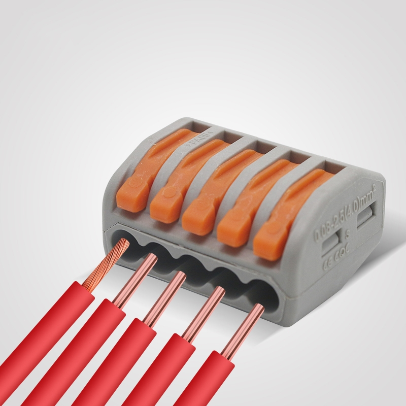 PCT-215 5 Pin Push Splice Cable Connector Conductor